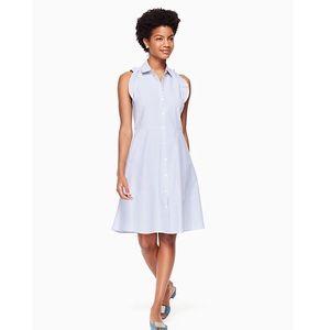 ⭐️🆕⭐️NWT⭐️Kate Spade Ruffle Poplin Shirt Dress
